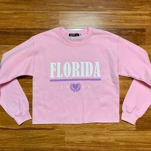 Missguided Florida Cropped Crewneck Sweatshirt